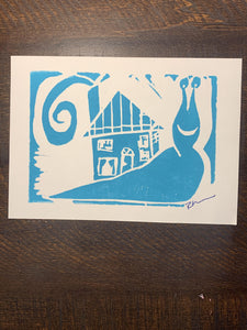 "Snail Print - ""We've Moved"""