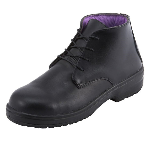 Black Lace-up Ladies Safety Boot