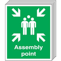 Pack of 6 - Fire Assembly Point Signs