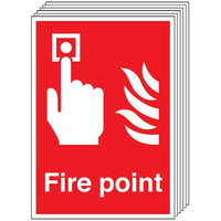 Pack of 6 - Fire Point Signs