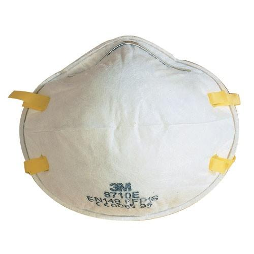 3M 8710E Industrial Dust Respirator Face Mask (Pack of 20)