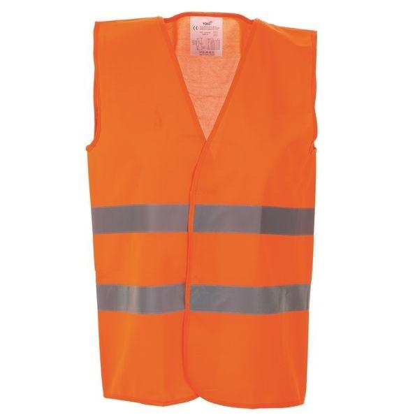 High Vis 2 Band Waistcoat - Orange