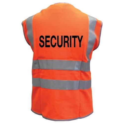 High Vis 2 Band Waistcoat - Orange Security