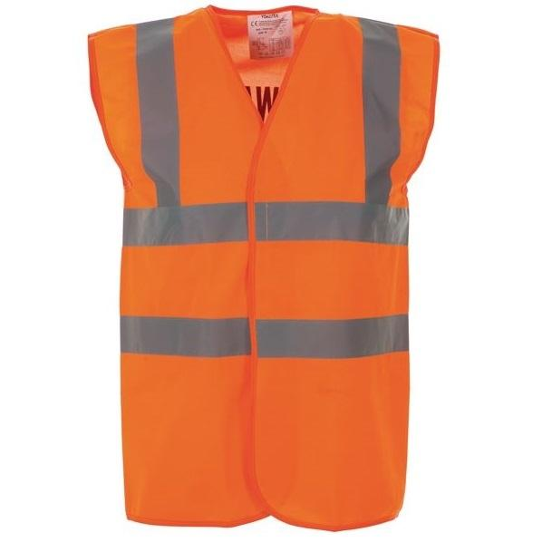 High Vis 2 Band Waistcoat - Orange Fire Warden