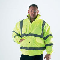 Hi Vis Bomber Jacket - Yellow