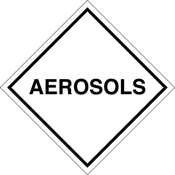 Aerosols - 100mm x 100mm label (single or rolls of 250)