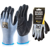 Builders Latex Glove - Black (Single or Pack of 10)