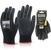 Multi Purpose PU Coated Glove - Black (Single or Pack of 10)