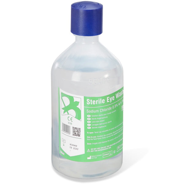 Sterile Eyewash Solution - 500ml (Single or Pack fof 5)