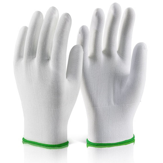 Polyester Knitted Liner Glove - White (Pack of 10)