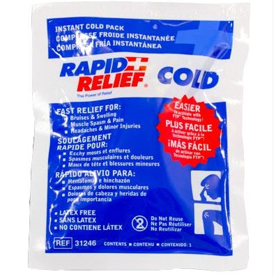 Rapid Relief Instant Cold Packs - pack of 5 (Sml or Lge)