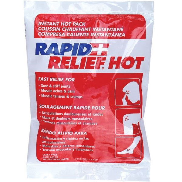 Rapid Relief Instant Hot Packs - pack of 5 (Sml or Lge)