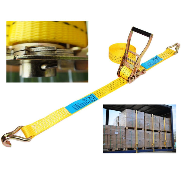 4 Tonne Cargo Straps With Claw Hooks
