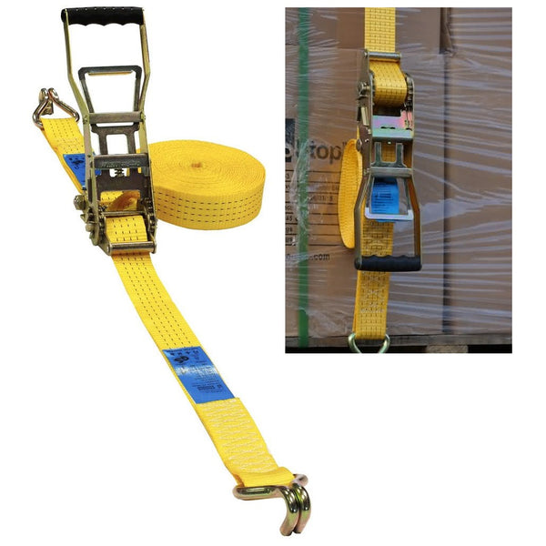 10 Metre Ergonomic Cargo Strap With Claw Hook (4 & 5 Tonne)
