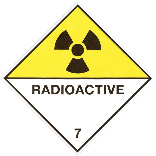 Class 7 - Radioactive - 250mm x 250mm - Hazardous Placard