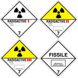 Class 7 - Radioactive - Variants - 250mm x 250mm - Hazardous Placard