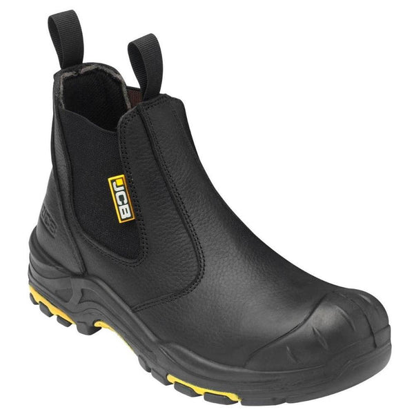 JCB Black Leather Dealer Boot
