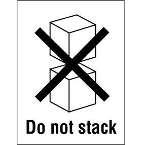 Do Not Stack Handling Label - 75mm x 110mm - Rolls of 250
