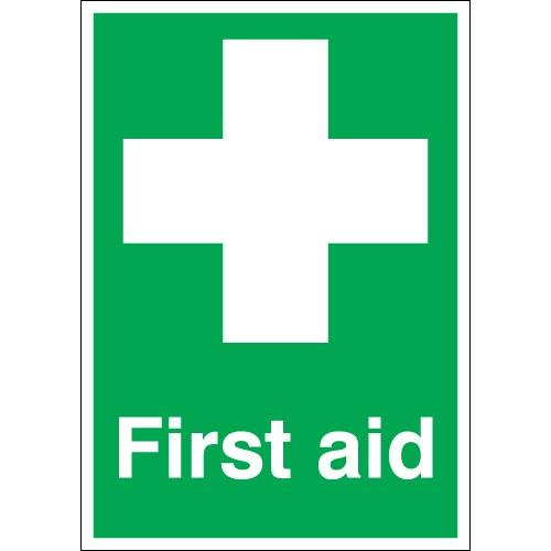 First Aid sign for rapid identification of equipment