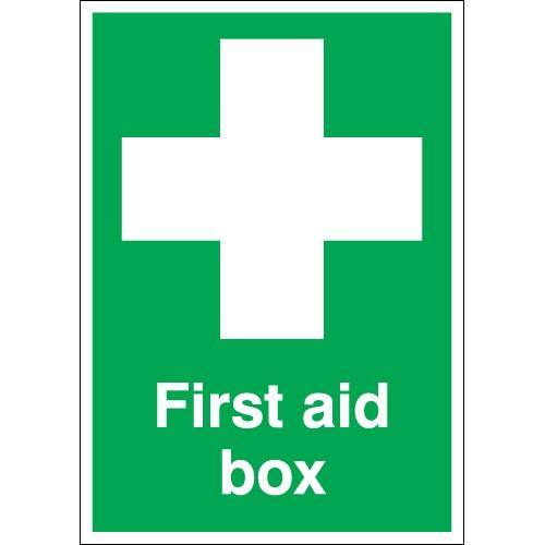 First Aid Box Identification Area Sign