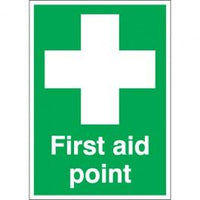 First Aid Point Identification Area Sign