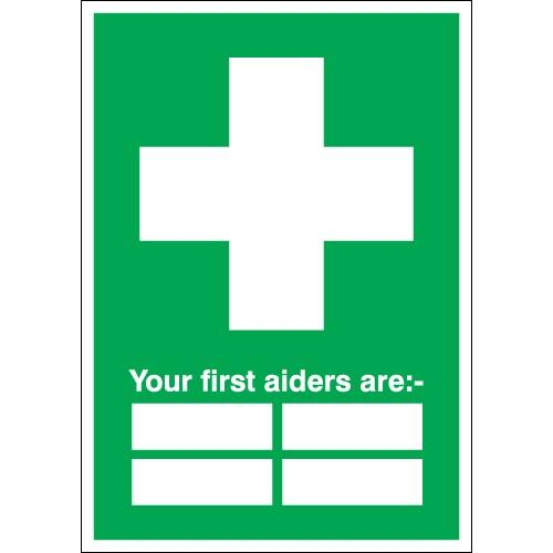 First Aider Identifier Sign _ Customisable