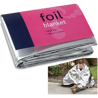 Emergency Foil Survival Blankets (Pack of 10)