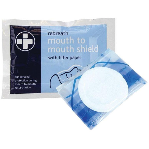 Filtered Mouth To Mouth Resuscitation Shield (single or packs of 5, 10)