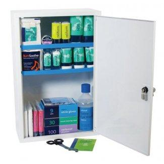Stocked Metal First Aid Cabinet