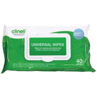 Clinell Universal Wipes (Pk of 40 or 200 Wipes)