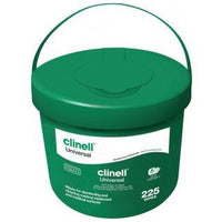 Clinell Universal Wipes (Bucket of 225 Wipes)