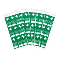 Tamperproof First Aid Inspection Labels - Packs of 45 or 100