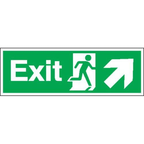 Fire Exit (Arrow Diagonal Up & Right) Signs