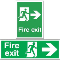 Fire Exit Signs - Running Man Right Arrow