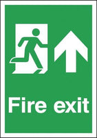 Fire Exit Signs - Running Man Up Arrow