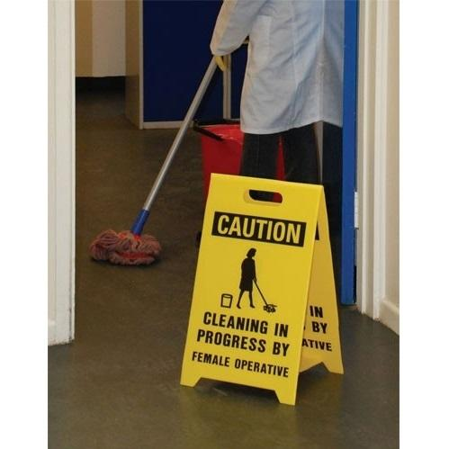 Durable Double-Sided Dual-Message Floor Stands (various messages, flip over for message-2 in 1)