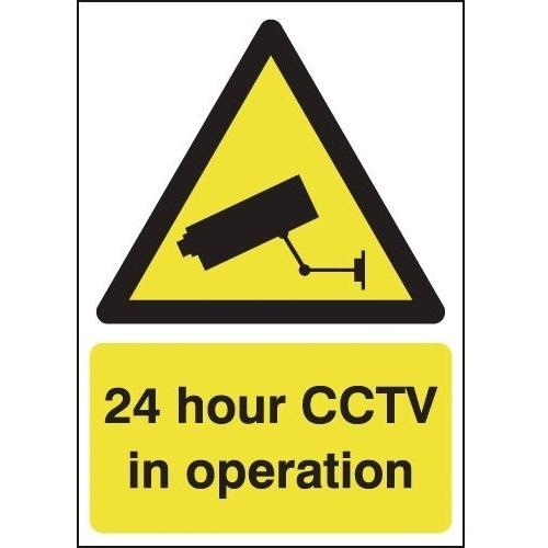 24 Hour CCTV In Operation Durable Signs
