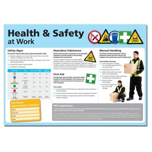 Health And Safety At Work Clear And Colourful Posters (various Sizes And Materials)