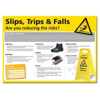 Slips, Trips & Falls Health And Safety Clear And Colourful Posters (various Sizes And Materials)