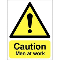 Men at Work Caution Sign - Aluminium or Rigid Plastic