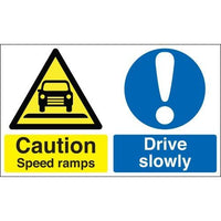 Caution Speed Ramps - Drive Slowly Warning Signs