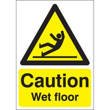 Caution Wet Floor Hazard Signs