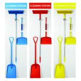 Fully Stocked Dustpan, Brush, Broom & Shovel with Shadow Boards (various colours)
