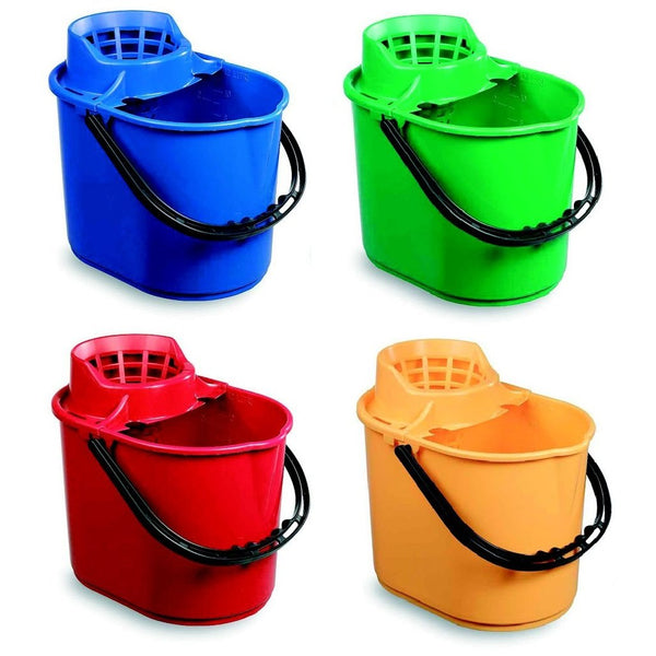 12 Litre Economy Plastic Mop Bucket with Wringer