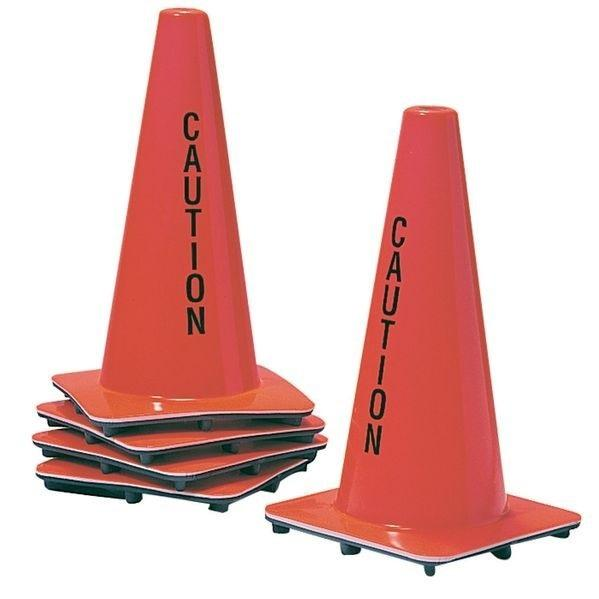 High-Visibility Weatherproof 'Caution' Cone