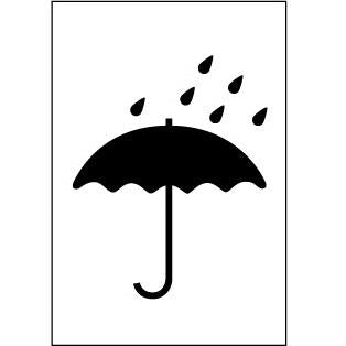 Keep Dry (Umbrella) Handling Label - 75mm x 110mm - Rolls of 250
