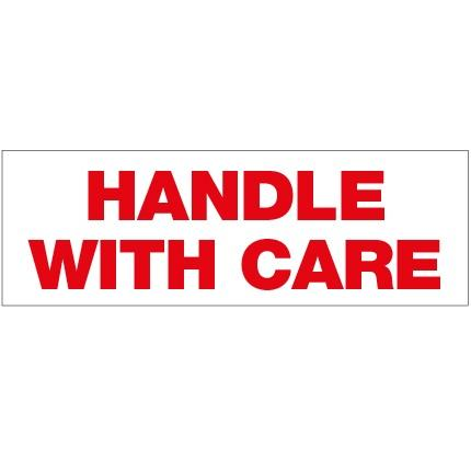 Handle With Care Label - 150mm x 50mm - Rolls of 250