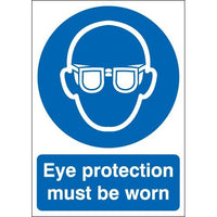 Eye Protection Must Be Worn Warning Signs