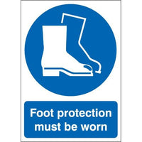 Foot Protection Must Be Worn Warning Signs