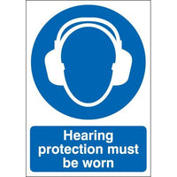 Hearing Protection Must Be Worn Warning Signs